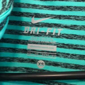 Nike Other - Nike Dri-Fit Green and black stripped quarter zip